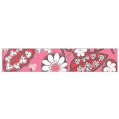 Flower Floral Red Blush Pink Flano Scarf (small)