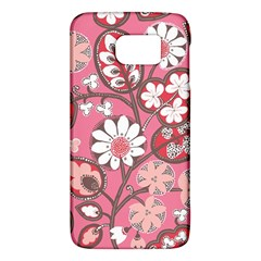 Flower Floral Red Blush Pink Galaxy S6 by Alisyart