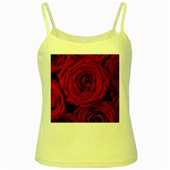 Roses Flowers Red Forest Bloom Yellow Spaghetti Tank