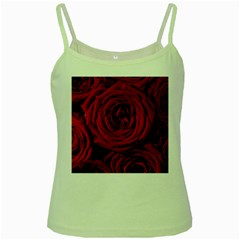 Roses Flowers Red Forest Bloom Green Spaghetti Tank