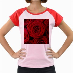 Roses Flowers Red Forest Bloom Women s Cap Sleeve T-Shirt