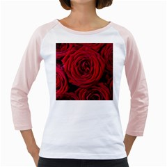 Roses Flowers Red Forest Bloom Girly Raglans