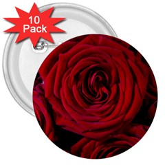 Roses Flowers Red Forest Bloom 3  Buttons (10 pack)