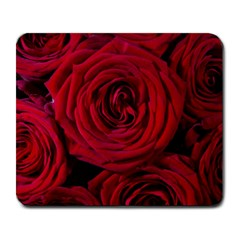 Roses Flowers Red Forest Bloom Large Mousepads