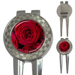 Roses Flowers Red Forest Bloom 3-in-1 Golf Divots