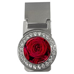 Roses Flowers Red Forest Bloom Money Clips (CZ)