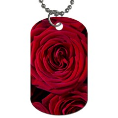 Roses Flowers Red Forest Bloom Dog Tag (One Side)