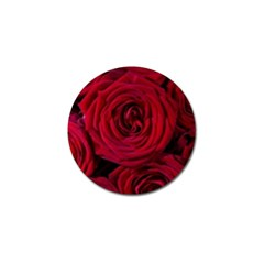 Roses Flowers Red Forest Bloom Golf Ball Marker