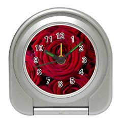 Roses Flowers Red Forest Bloom Travel Alarm Clocks