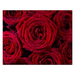Roses Flowers Red Forest Bloom Rectangular Jigsaw Puzzl