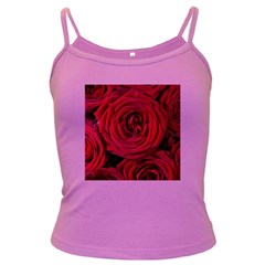 Roses Flowers Red Forest Bloom Dark Spaghetti Tank