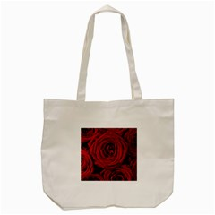 Roses Flowers Red Forest Bloom Tote Bag (Cream)