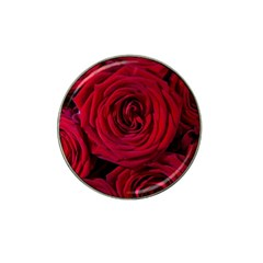 Roses Flowers Red Forest Bloom Hat Clip Ball Marker (4 pack)