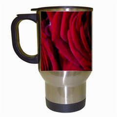Roses Flowers Red Forest Bloom Travel Mugs (White)