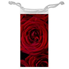 Roses Flowers Red Forest Bloom Jewelry Bag