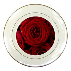 Roses Flowers Red Forest Bloom Porcelain Plates