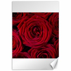 Roses Flowers Red Forest Bloom Canvas 12  x 18