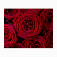 Roses Flowers Red Forest Bloom Small Glasses Cloth (2-Side)