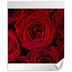 Roses Flowers Red Forest Bloom Canvas 11  x 14