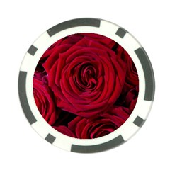 Roses Flowers Red Forest Bloom Poker Chip Card Guard