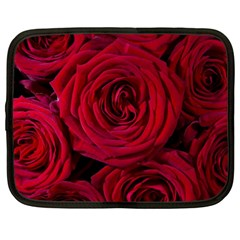 Roses Flowers Red Forest Bloom Netbook Case (Large)