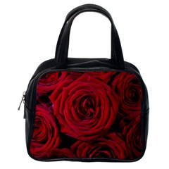 Roses Flowers Red Forest Bloom Classic Handbags (One Side)