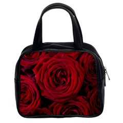 Roses Flowers Red Forest Bloom Classic Handbags (2 Sides)
