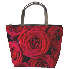 Roses Flowers Red Forest Bloom Bucket Bags