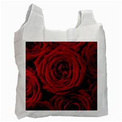 Roses Flowers Red Forest Bloom Recycle Bag (Two Side)