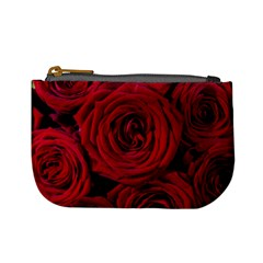 Roses Flowers Red Forest Bloom Mini Coin Purses
