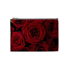 Roses Flowers Red Forest Bloom Cosmetic Bag (Medium)
