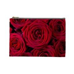 Roses Flowers Red Forest Bloom Cosmetic Bag (Large)
