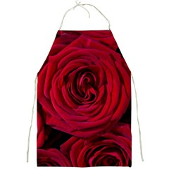Roses Flowers Red Forest Bloom Full Print Aprons by Amaryn4rt