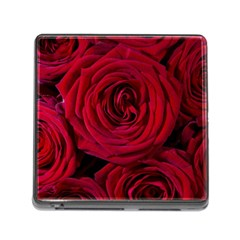 Roses Flowers Red Forest Bloom Memory Card Reader (square) by Amaryn4rt