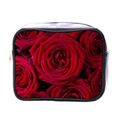 Roses Flowers Red Forest Bloom Mini Toiletries Bags