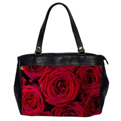 Roses Flowers Red Forest Bloom Office Handbags (2 Sides)