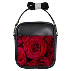 Roses Flowers Red Forest Bloom Girls Sling Bags