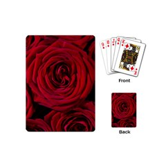 Roses Flowers Red Forest Bloom Playing Cards (Mini)