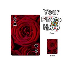 Roses Flowers Red Forest Bloom Playing Cards 54 (Mini)