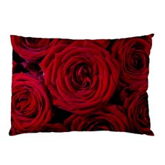 Roses Flowers Red Forest Bloom Pillow Case (Two Sides)
