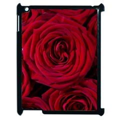 Roses Flowers Red Forest Bloom Apple iPad 2 Case (Black)