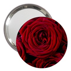 Roses Flowers Red Forest Bloom 3  Handbag Mirrors