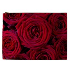 Roses Flowers Red Forest Bloom Cosmetic Bag (XXL)