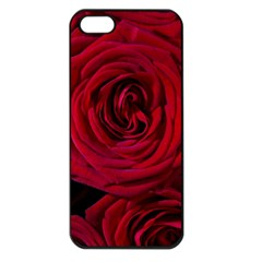Roses Flowers Red Forest Bloom Apple iPhone 5 Seamless Case (Black)