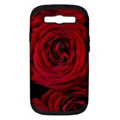 Roses Flowers Red Forest Bloom Samsung Galaxy S III Hardshell Case (PC+Silicone)