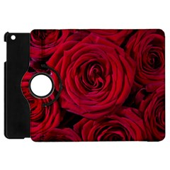 Roses Flowers Red Forest Bloom Apple iPad Mini Flip 360 Case