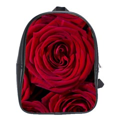 Roses Flowers Red Forest Bloom School Bags (XL)