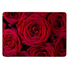 Roses Flowers Red Forest Bloom Samsung Galaxy Tab 8.9  P7300 Flip Case