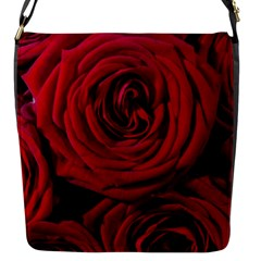 Roses Flowers Red Forest Bloom Flap Messenger Bag (S)