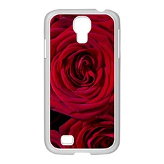 Roses Flowers Red Forest Bloom Samsung GALAXY S4 I9500/ I9505 Case (White)
